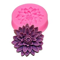 Baifeng Candy Making Molds,Flower Silicone Resin Clay Molds Handmade Resin Mold Polymer Clay Mold