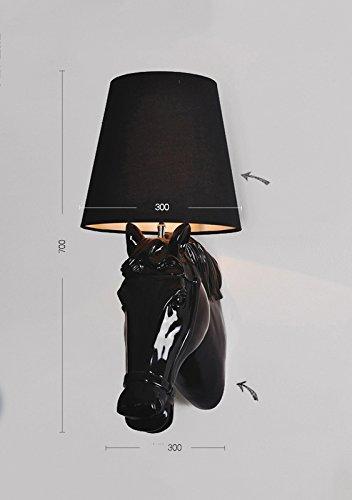 DHG Pferdekopf Wandleuchte, europäischen Stil Nacht Schlafzimmer Flur Balkonwand, Lampe modernen minimalistischen Harz LED-Wandleuchte,D,Einheitsgröße -