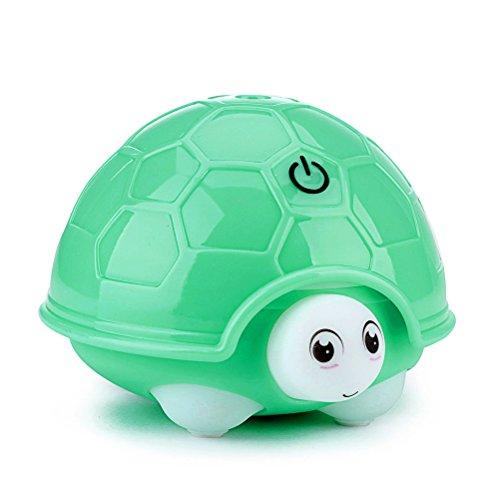 Ultraschall kalter Dampf Schildkröte Luftbefeuchter Mit Nachtlicht, URAQT 160ml Luftbefeuchter mit 7 verschiedenen Farben der LED Leuchten Wechsel, Super ruhiger Betrieb, Grün
