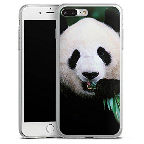 Apple iPhone 8 Slim Case Silikon Hülle Schutzhülle Panda Pandabär Bär Silikon Slim Case transparent