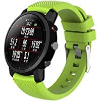 Modaworld _Correa de reloj Suave de Silicona Sports Band para HUAMI Amazfit Stratos Smart Watch 2 Correas de Reloj Inteligente Pulseras de Repuesto (Verde Claro, para HUAMI Amazfit Stratos 2)