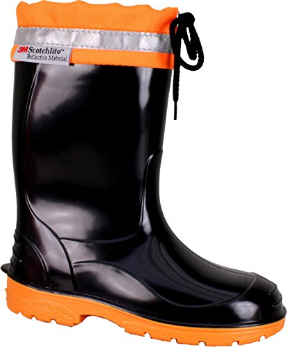 BOCKSTIEGEL® LINUS Childrens - Rubber Boots with Reflective Strips (Kids Sizes: 22-35)