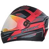 Steelbird R2k Night Vision Full Face Helmet (Matt Black and Red, M)