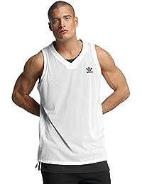 adidas L.A Tank Top–Camiseta de tirantes para hombre, Hombre, color Blanc - (BLANCO/NEGRO), tamaño FR : L (Taille Fabricant : L)