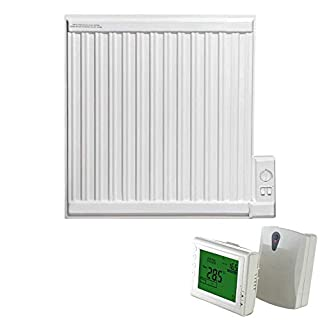 ADAX APO Oil Filled Electric Thermostatic Wall Mounted Radiator in Classic White, 600mm High. Radiant, Traditional Style, Rapid and Cost Efficient Room Heat, with Programmable 247 Wireless Timer, 350W