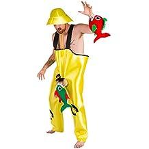Disfraz de Pescador con Piraña picando para hombres