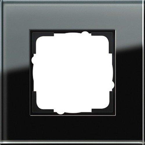 Gira Rahmen 021105 1fach Esprit Glas schwarz