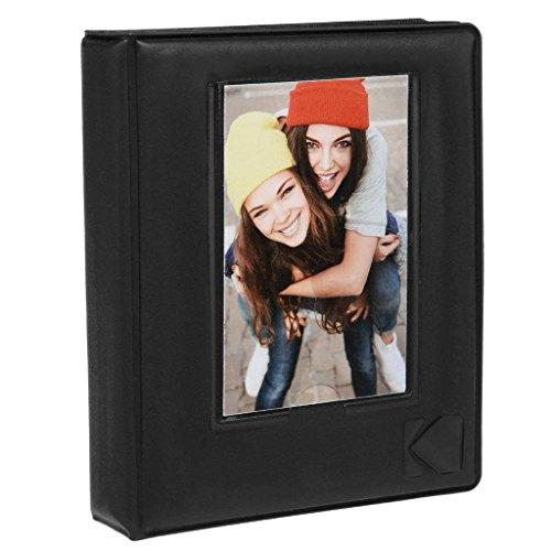 Kodak album fotografico lucido, dotato di 64 tasche e finestra portafoto in copertina, per carta fotografica in formato 2