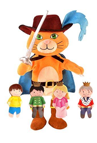 Fiesta Crafts t-2865el Gato Botas Mano Juego Marionetas