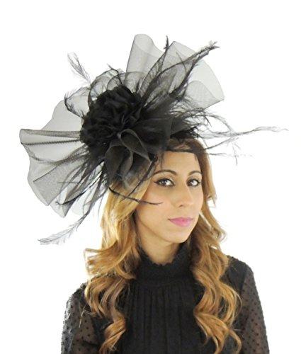 Superbe thinadhoo Grand Ascot Derby Bibi Chapeau–avec bandeau–Disponible en 30couleurs Gris - Gris
