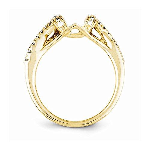 Ringschutz, 14 Karat Gelbgold, Diamant (0,196CT, H-SI2) -