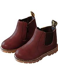 Nasonberg Jungen Mädchen Winter Leder Schneestiefel Warme weiche Winterschuhe Boots für Kinder Baby