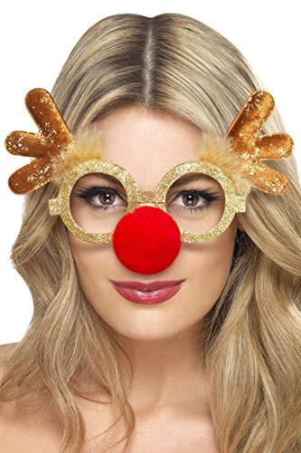 le mit roter Nase für Damen und Herren für die Weihnachtszeit ()