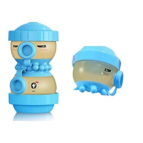 Distributeur portable de poudre de lait de formule pour bébé, Dotala Nano Antibactérien Snacks Conteneur de stockage pour Voyage (Blue)