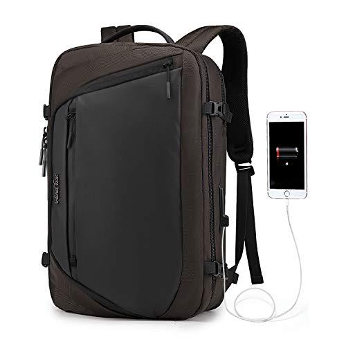 Wind Took 15.6 Zoll Laptoptasche 3 in 1 Laptop Rucksack Arbeitstasche Aktentasche Umhängetasche Tragetasche Herren Schulrucksack für Business Schule Uni, Braun