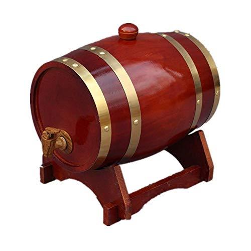 YXLONG 25L Eichenfass, Personalisierte Holz Eichenfässer Holzfass, Rotwein Eichenfässer Zur Lagerung Von Wein, Spirituosen Und Fassbier,Tea Color -