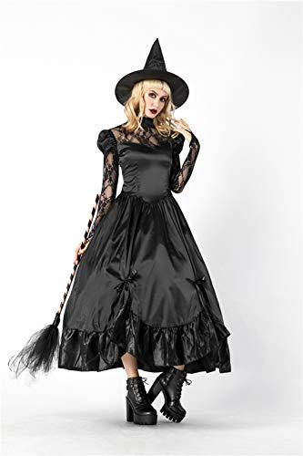 Duuozy Weibliche Halloween Hexe Spiel Anzug Sexy Hexe Swing Stage Kostüm One Size