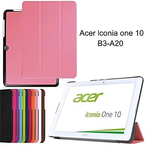 FIREUP Slim Funda Case Cover con Soporte Carcasa para Acer Iconia One 10 B3-A20 (No para One 10 B3-A10) - Rosa (#WYK) con Gratis stylus universales