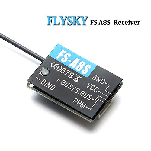 flysky empfaenger Flysky FS-A8S Empfänger 2.4G 8CH Mini Receiver mit PPM iBUS SBUS Ausgang für FS i4 i6 i6S i6X TM10 TM8 Sender for FPV Racing RC Drone Quadcopter for FPV Racing RC Drone Quadcopter by LITEBEE