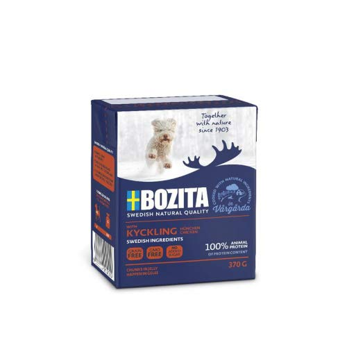 Bozita Naturals Junior HiG Hühnchen 370g Tetra Pack Hunde -