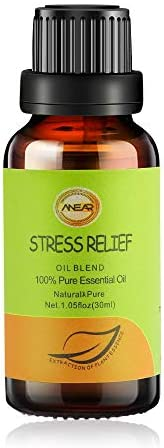 ANEAR Functional Stress Relief Essential Oil - 30ml Soothing Decompression Oil, Four Ingredients: Sweet Orange