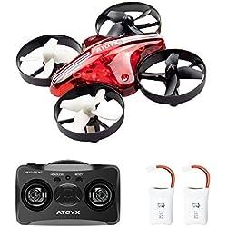 ATOYX AT-66 Drone Enfant Hélicoptère Télécommandé Quadcopter avec Mode sans Tête Avion Mini avec Télécommande Jouet Cadeau pour Enfant et Débutant - Rouge