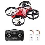 ATOYX AT-66 Drone Mini,Quadcpter Mode sans Tete Hauteur Fixe 3D Roller ,Mode 6-Axe Gyro Headless Jouet d'hélicoptère Cadeau Enfant/ Débutant - Rouge