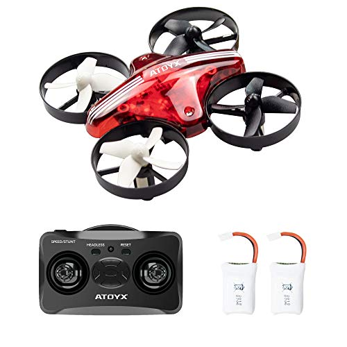 ATOYX-AT-66-Drone-MiniQuadcpter-Mode-sans-Tete-Hauteur-Fixe-3D-Roller-Mode-6-Axe-Gyro-Headless-Jouet-dhlicoptre-Cadeau-Enfant-Dbutant-Rouge
