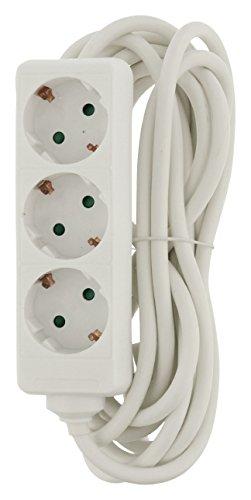 Preisvergleich Produktbild Eurosell - 3fach Steckdosenleiste + Kindersicherung weiß Verteiler Mehrfachsteckdose - langes 5 Meter Kabel