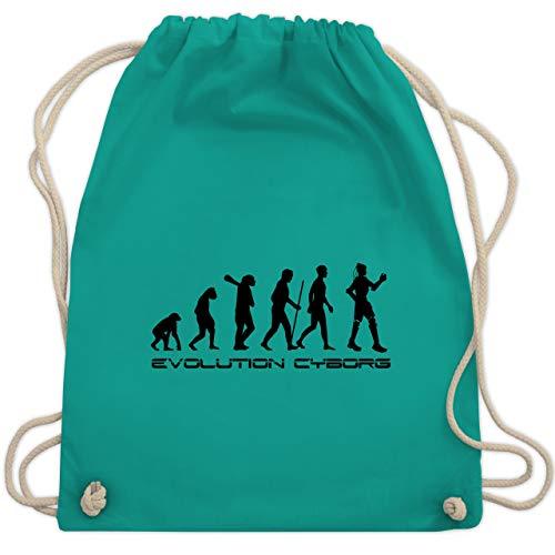 Evolution - Cyborg Evolution - Unisize - Türkis - WM110 - Turnbeutel & Gym Bag