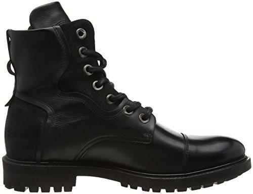 BUNKER Herren Booty Bootsschuhe Schwarz (Black)