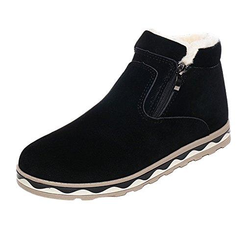 Bottes Homme Hiver, Manadlian Boots avec Doublure Antidérapant Bottes de Neige Chaudes Chaussures Classiques Courts Sneakers Taille 39-44
