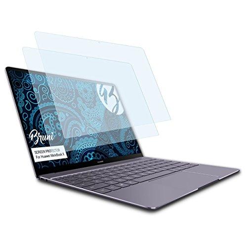 Bruni Schutzfolie für Huawei MateBook X Folie, glasklare Bildschirmschutzfolie (2X)