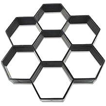 Uteruik - Molde Hexagonal para hormigón de jardín, para pavimento, Cemento, ladrillo,