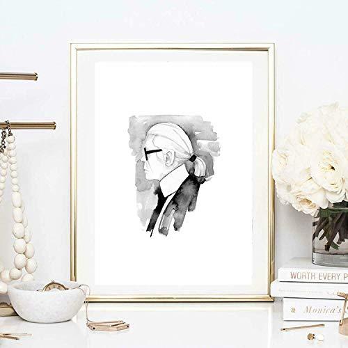Premium Poster Portrait einer Frau mit einer geflügelten Haube