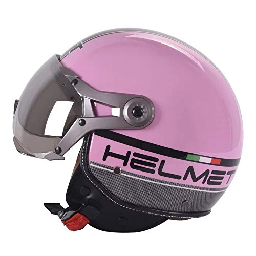 Berrd Mezzo casco per motociclo elettrico mezzo casco semicoperto Prince casco per casco moto retrò uomo e donna stagionicasco tmax