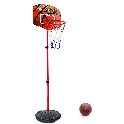 Symiu Canasta Baloncesto Ajustable Juegos de Deporte Al Aire Libre y Interior Juguetes para Infantil Junior Niños 3 Años + (76 a 156 cm)