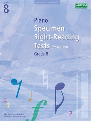 ABRSM Piano Specimen Sight Reading Tests: From 2009 (Grade 8). Sheet Music for Piano Solo