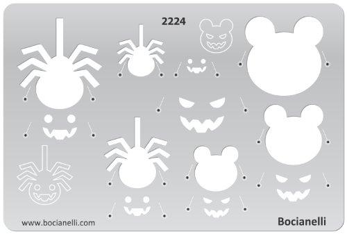 chablone aus Transparentem Kunststoff für Grafik Design Kunst Handwerk Technisches Zeichnen Schmuckherstellung Schmuck Machen - Halloween Kürbis Kopfmaske Spinne Symbole (Halloween-kürbis-designs Schablonen)