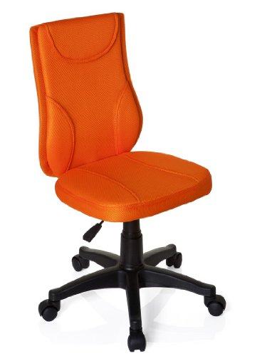 Orange Stoff Mit Einem Ergonomischen Stuhl (hjh OFFICE 670440 Kinder Schreibtischstuhl KIDDY Base Netz-Stoff Orange Drehstuhl Ergonomisch Höhenverstellbar)