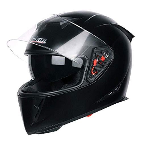 L&WB Motorrad-Helfass-Helm Winterwarm Anti-Nebel-Helm,C,S(55~56cm)