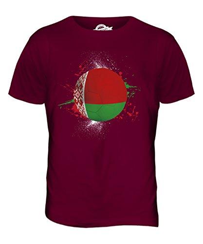 CandyMix Weißrussland Fußball Herren T Shirt Burgunderrot