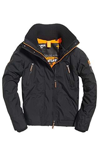 Superdry Polar Wind Attacker, Veste de Sport Homme, Noir (Black/Fluro Orange 43a), Larg