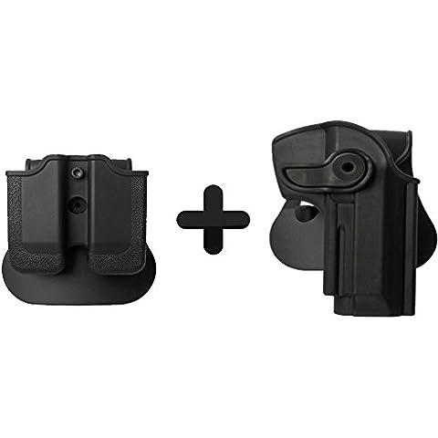 Imi Defense Tactical Roto fondina per pistola + doppio magazine pouch per Beretta 92/9Lama 82Cheetah FS 85Yavuz 16pistola - Militare Doppio Magazine Pouch