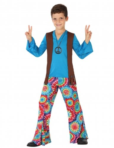 Jungen Trikot Kostüm Für (Atosa–28450Hippie-Kostüm für Kinder – Jungen –)