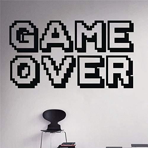 xinyouzhihi Game Over Wandtattoo Art Boys Room Home Decor Wandaufkleber Vinyl Dekoration Wand 85 x 48 cm