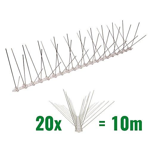 10 metros de Púas antipalomas con base de Policarbonato - 4-hileras de Púas antipalomas la solución de calidad para el control de aves