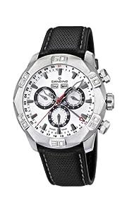 Candino C4476/1 - Reloj cronógrafo de cuarzo para hombre, correa de cuero color negro (cronómetro, agujas luminiscentes) de Candino