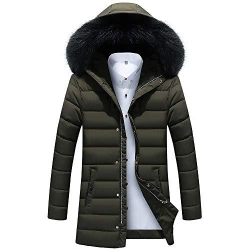 Beonzale Herren Herbst Winter Jacke Mantel Outwear Slim Long Trench Zipper Caps Coat Classic Zip Off Jacket Jacke