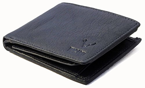 VOGARD Deep Blue Genuine Leather Mens Wallet